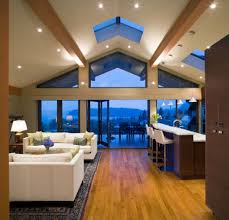 Kitchen Lighting For Vaulted Ceilings by Vaulted Ceiling Lighting Ideas Picture For Living Room Interior