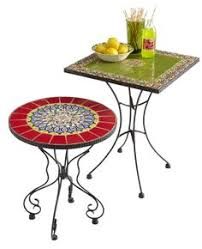 Patio Accent Table Worldmarket Table Medallion Cadiz Mosaic Accent Table