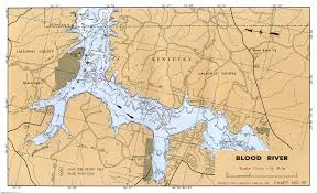 map kentucky lakes rivers tennessee river