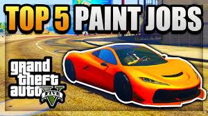 gta 5 top 5 paint jobs u0026 epic car color schemes best paint jobs