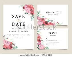wedding invitation card template text stock vector 670423366