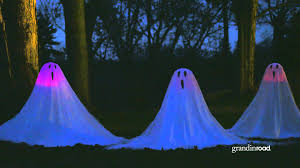 set of three favorite lighted staked halloween ghosts youtube