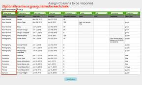 Work Breakdown Structure Excel Template Import An Existing Project Via Csv Getting Started With Teamgantt