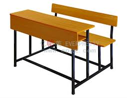 Modern School Desks Cheap Price 3 Seat Desk And Chair 3 Student Bench School Desk And