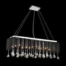 Black Chandelier Lighting by Chandelier Astonishing Rectangular Chandelier Lighting