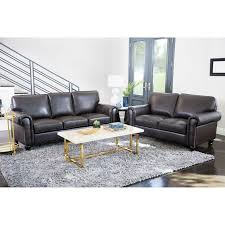 livingroom furniture sets abbyson top grain leather 2 living room set free