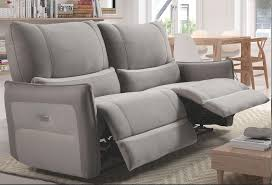 canape relax 3 places canapé de relaxation 3 places electrique microfibre gris clair