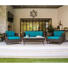 All Weather Wicker Loveseat Ae Outdoor Wright 6 Piece Deep Seating All Weather Wicker