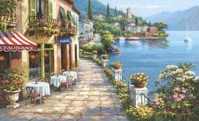 20 collection of italian cafe wall art wall art ideas overlook cafe wall mural c840 throughout italian cafe wall art image 12 of 20