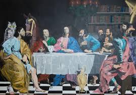 saatchi art artist tomoya n painting the last supper contemporary art