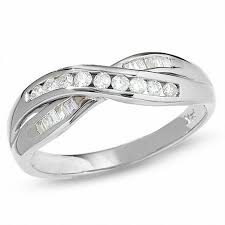 engagement rings from zales 1 4 ct t w crossover band in 14k white gold