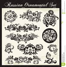 floral ornaments in russian traditional style stock photos image
