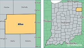 map of allen allen county indiana map of allen county in where is allen