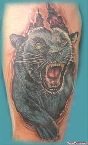 black angry panther tattoo design tattoo viewer com