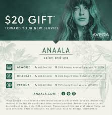 specials anaala salon and spa verona wi madison wi