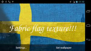 Swidish Flag 3d Sweden Flag Live Wallpaper Android Apps On Google Play