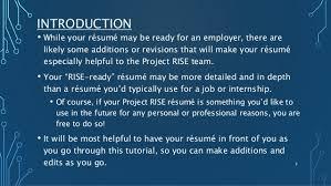 resume tutorial resume tutorial