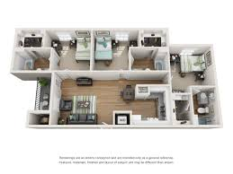 three bedroom apartments floor plans the oliver student apartments near lsu in baton rouge