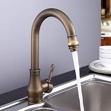 brass kitchen faucet antique brass rubbed bronze finish single handle kitchen