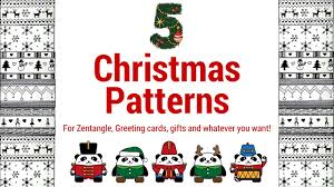 christmas patterns 5 easy christmas zentangle patterns