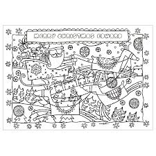 personalised christmas colouring set by made by ellis
