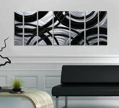 cool 10 silver home decor decorating design of silver home decor silver black abstract metal wall art painting contemporary home