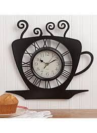 coffee cup wall clock carolwrightgifts com