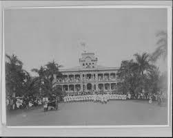 Image Of Hawaiian Flag File Lowering Of Hawaiian Flag At Iolani Palace With Us Marines In