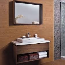 china oppein economy walnut laminate bathroom cabinet with mirror