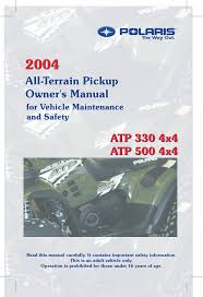 polaris offroad vehicle atp 330 4x4 user guide manualsonline com