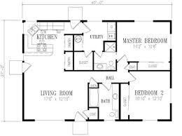 2 bedroom ranch floor plans simple decoration 2 bedroom home plans bedroom house plans
