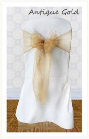 gold chair sashes chair sash hire for weddings