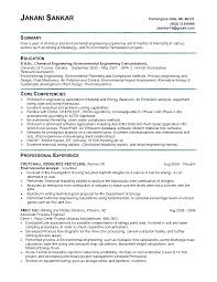 Resume Format For Experienced Mechanical Design Engineer Resume Sample Environmental Engineering Augustais