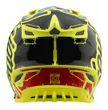 yellow motocross helmets 2018 troy lee designs se4 poly team factory yellow motocross