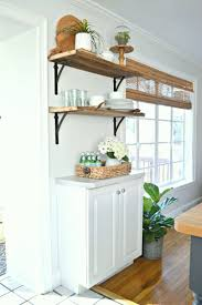open shelving in the kitchen for under 50