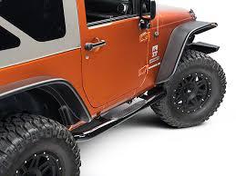 jeep wrangler side steps for sale rugged ridge wrangler side steps gloss black 11590 05 07 17