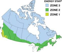 Map Of Quebec Province Climate Zones U2014windows Doors And Skylights Natural Resources Canada