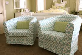 Slipcover For Barrel Chair Custom Slipcovers By Shelley Pair Of Barrel Chairs