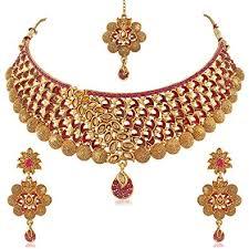 plated choker necklace images Buy palash beautiful eye catching meenakari gold plated choker jpg