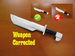 how to make kitchen knives how to make a paper machete mistake corrected easy tutorials