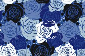 blue roses seamless pattern blue roses patterns creative market