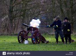 siege canon exploding firing canon at nantwich cheshire uk 24th jan 2015
