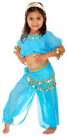 Halloween Costumes 7 Girls Genie Bottle Costume Blue Genie Costume Arabian Nights