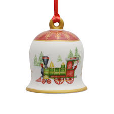 villeroy and boch porcelain bell ornament 2017 silver superstore