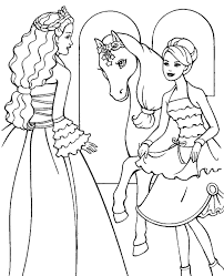 barbie coloring pages 4 print color free