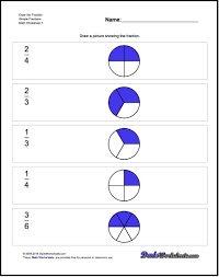 the worksheets on this page introduce visual representations of