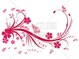 vector floral swirl ornaments butterfly