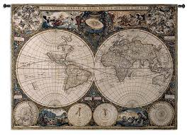 World Map Rug by Amazon Com Fine Art Tapestries