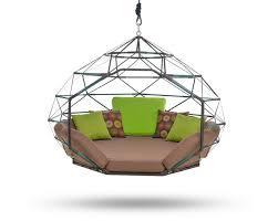 kodama zomes a caged hanging outdoor hammock home decorating