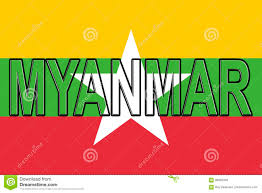 Myanmar Flag Photos Flag Of Myanmar Word Stock Illustration Illustration Of Pride